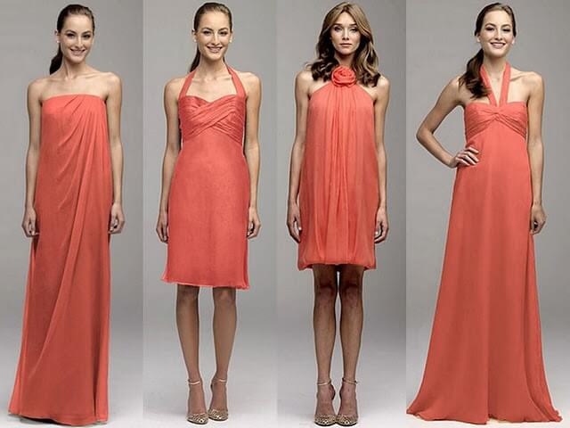 Top bridesmaid dress styles for 2013 gemini djs for Different colored wedding dresses