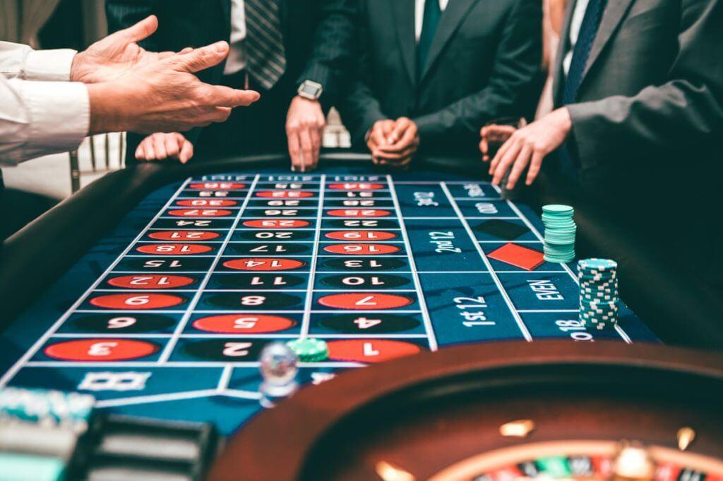 craps table at casino night