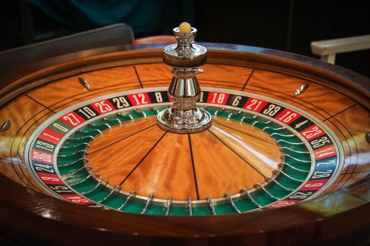 roulette table at casino night