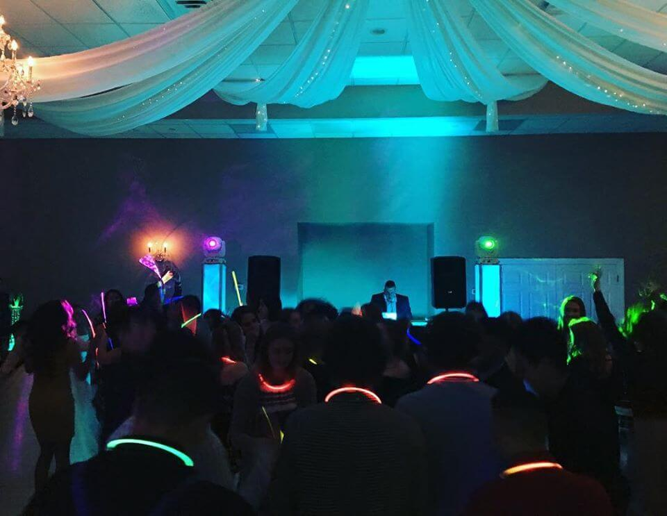 mood lighting  and other audiovisual wedding upgrades